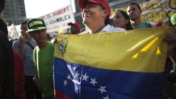 Partidario del partido venezolano PSUV - Sputnik Mundo