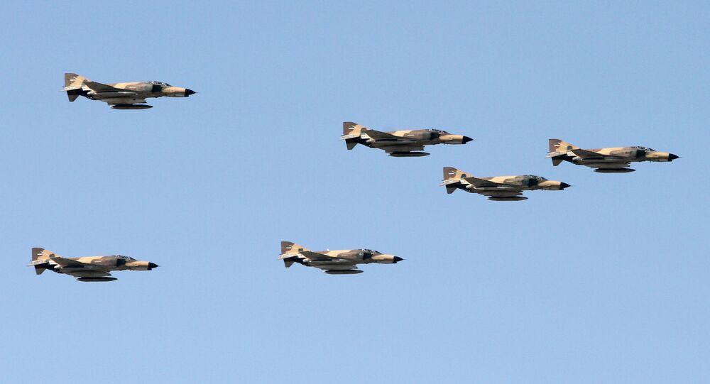 Los cazas norteamericanos F-4 Phantom (archivo)