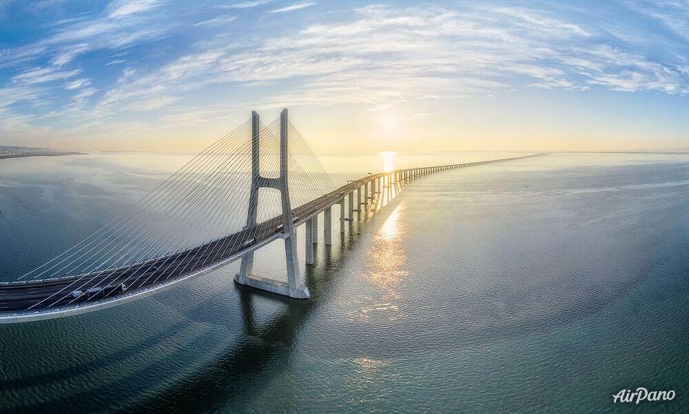 El puente Vasco da Gama en Lisboa