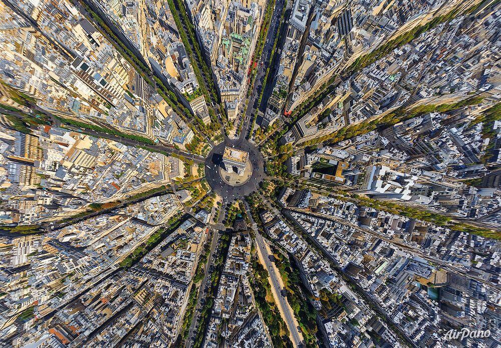 París vista a vuelo de pájaro