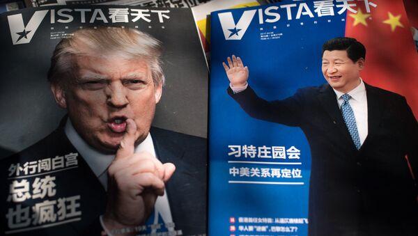 Los presidentes de China y EEUU, Donald Trump y Xi Jinping - Sputnik Mundo