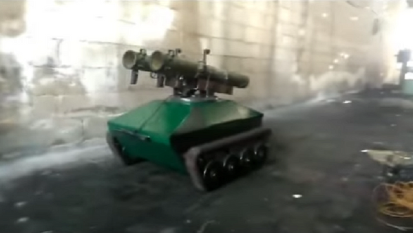 Ingenieros sirios prueban su propio robot antitanque - Sputnik Mundo