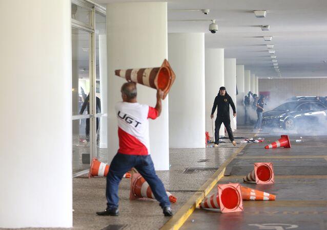 Disturbios en el Congreso Nacional de Brasil