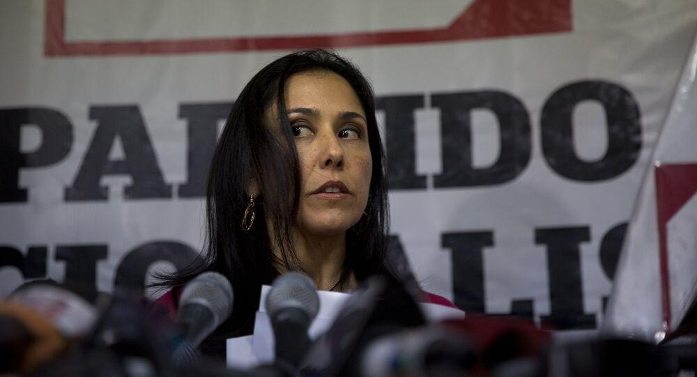 Nadine Heredia, mujer del expresidente de Perú Ollanta Humala (archivo)