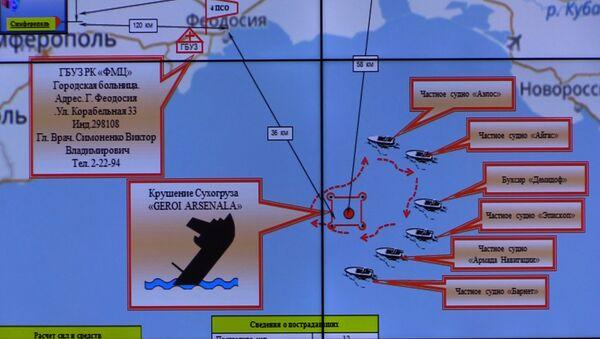 Mapa de la operación de rescate en el Mar Negro - Sputnik Mundo