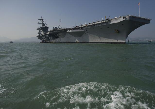 El portaviones estadounidense USS Carl Vinson (Archivo)