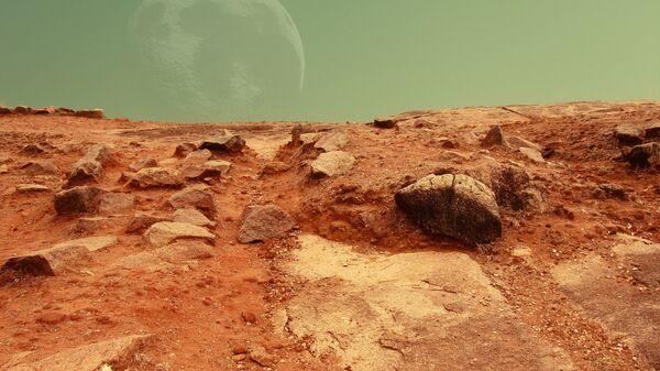 La superficie de Marte (ilustración) - Sputnik Mundo