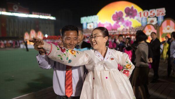Eventos conmemorativos del 105 aniversario del nacimiento de Kim Il-sung, Pyongyang - Sputnik Mundo