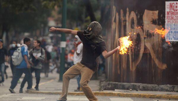 Actos de violencia en Caracas - Sputnik Mundo