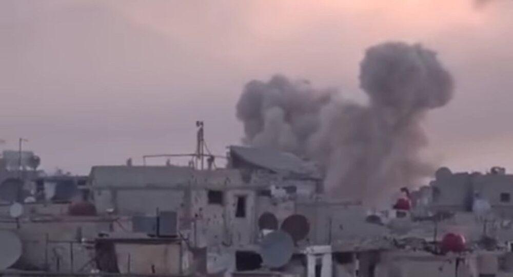 'Elefantes' sirios arrasan con terroristas en Damasco