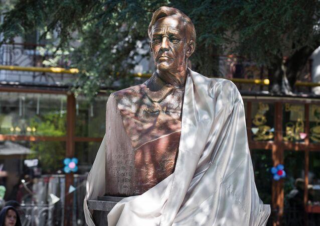La ceremonia de la inauguración del monumento al 32º presidente de Estados Unidos, Franklin D. Roosevelt, en Yalta, Crimea