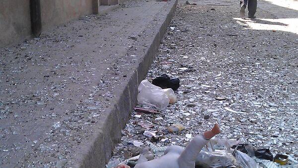 Consecuencias de la guerra en la ciudad de Homs, Siria, 22 de abril de 2012 - Sputnik Mundo