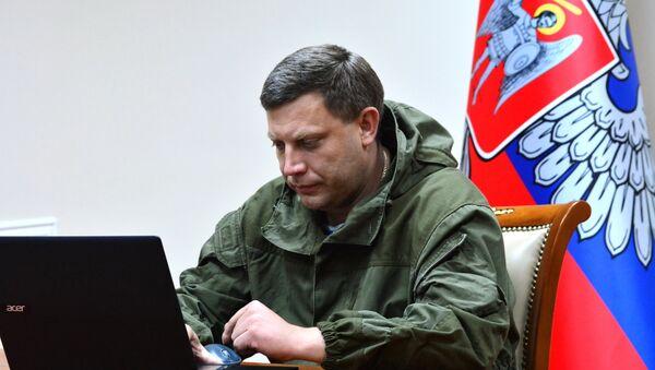 Alexandr Zajárchenko, líder de la autoproclamada República Popular de Donetsk - Sputnik Mundo