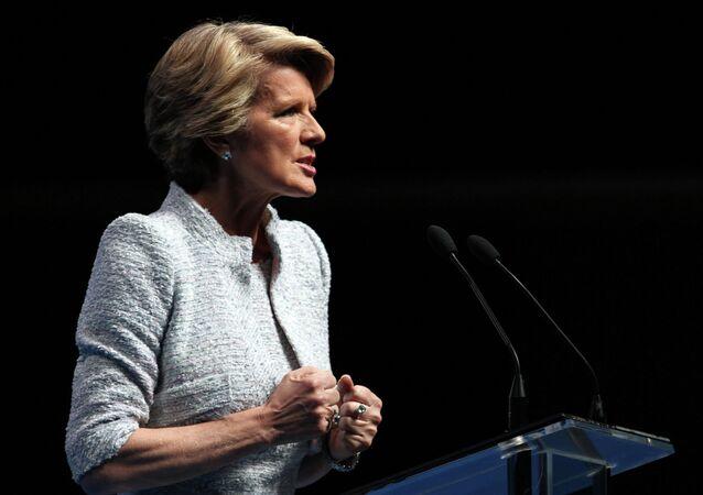 Julie Bishop, ministra australiana de Exteriores