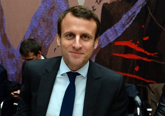 Emmanuel Macron, candidato presidencial de Francia (archivo)