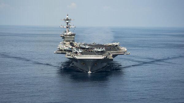 El portaviones USS Carl Vinson (archivo) - Sputnik Mundo