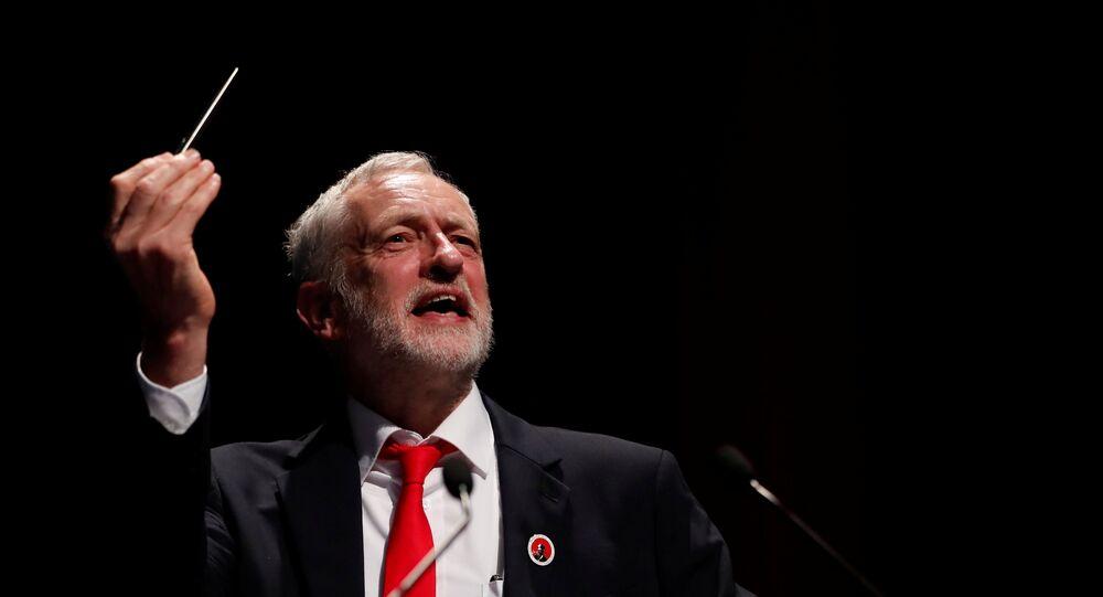 Jeremy Corbyn, líder laborista británico