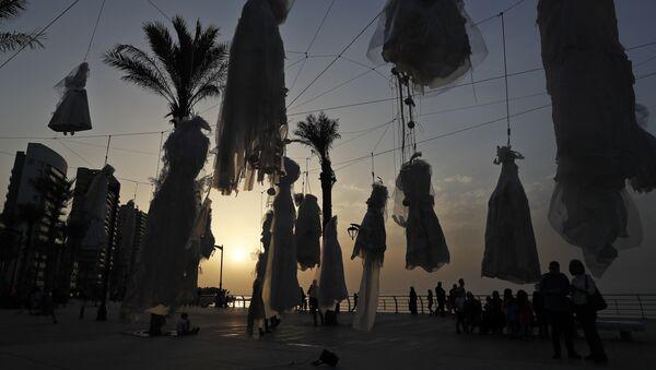 Acción de protesta en Beirut - Sputnik Mundo