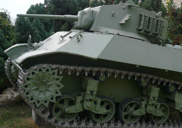 Un tanque M3 Stuart (archivo)