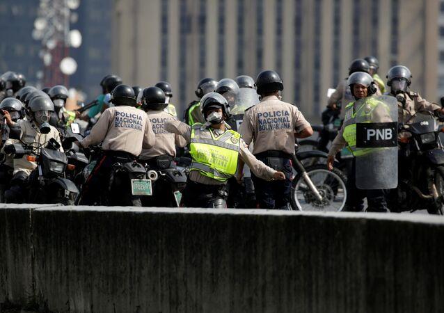 Policía venezolana