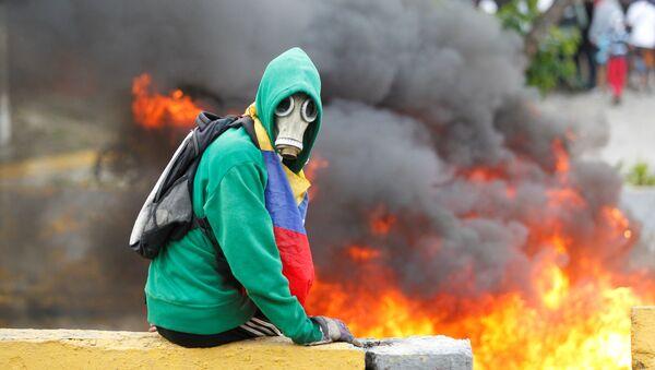 Violentas protestas en Venezuela (archivo) - Sputnik Mundo