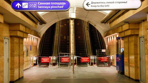 Metro de San Petersburgo tras el atentado - Sputnik Mundo