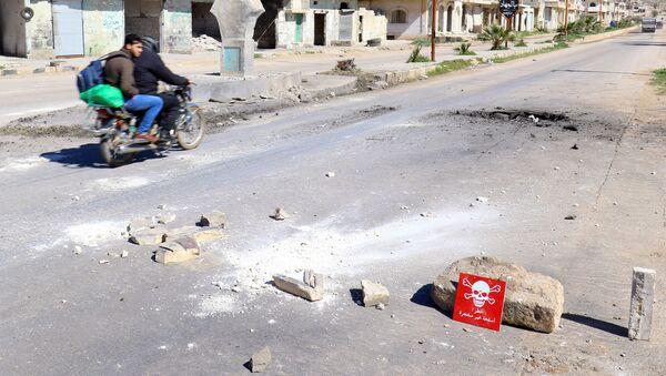 El lugar del presunto ataquequímico en Jan Sheijun, Idlib (archivo) - Sputnik Mundo
