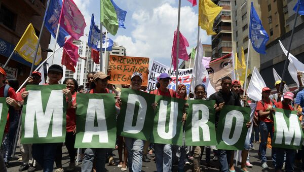Seguidores del presidente venenzolano, Nicolás Maduro - Sputnik Mundo
