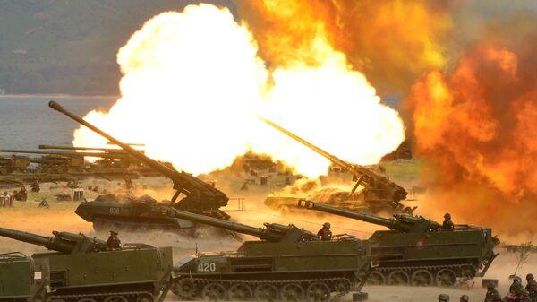 La artillería de Corea del Norte - Sputnik Mundo