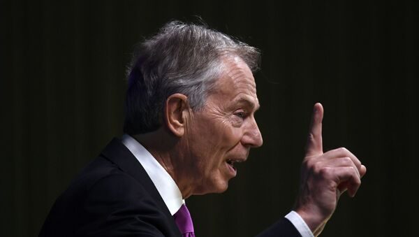 Former British Prime Minister Tony Blair delivers a keynote speech at a pro-Europe event in London, Britain, February 17, 2017. - Sputnik Mundo