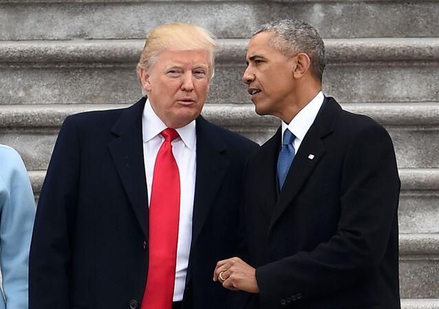 Donald Trump, actual presidente de EEUU, y el expresidente Barack Obama (archivo)