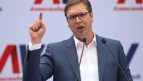 Aleksandar Vucic, primer ministro y presidente electo de Serbia - Sputnik Mundo