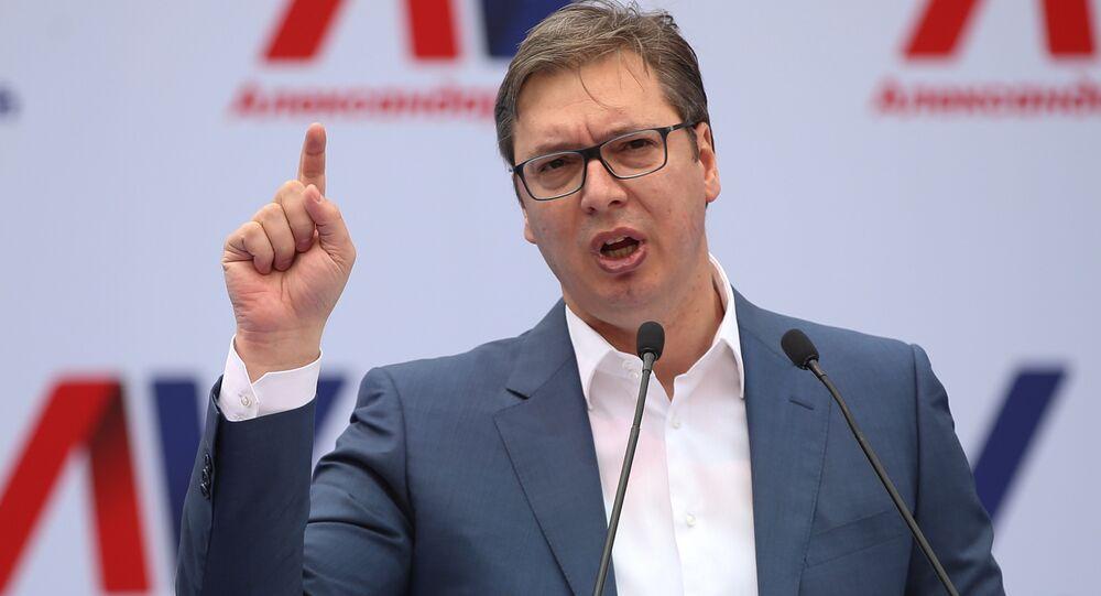 Aleksandar Vucic, primer ministro y presidente electo de Serbia
