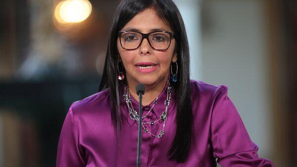 Delcy Rodríguez, la vicepresidenta de Venezuela (archivo) - Sputnik Mundo