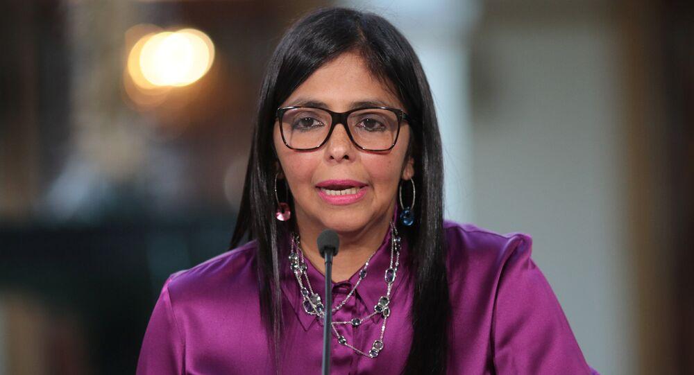 Delcy Rodríguez, la presidenta de la Asamblea Nacional Constituyente de Venezuela