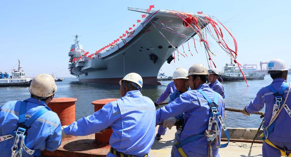 La botadura del segundo portaviones chino, Type 001