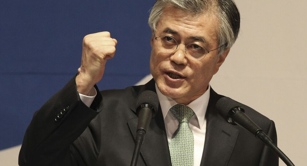 Moon Jae-in, candidato del Partido Demócrata a la presidencia surcoreana