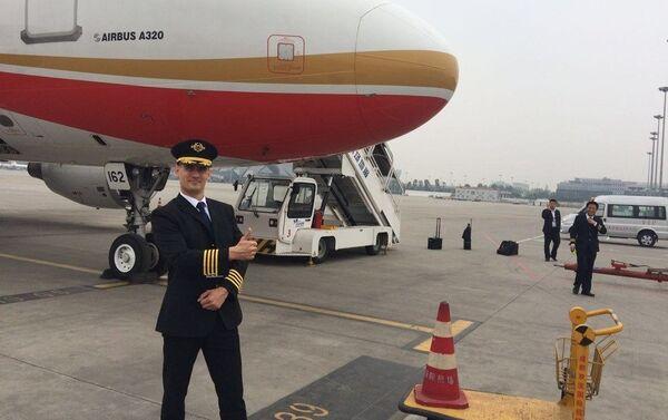 Dmitri Radáev, piloto ruso de la aerolínea Chengdu Airlines - Sputnik Mundo