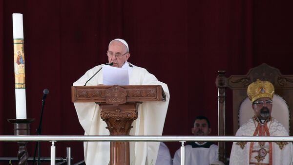 Misa del papa Francisco en El Cairo - Sputnik Mundo