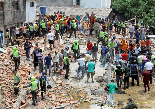Desplome de un edificio en Cartagena, Colombia
