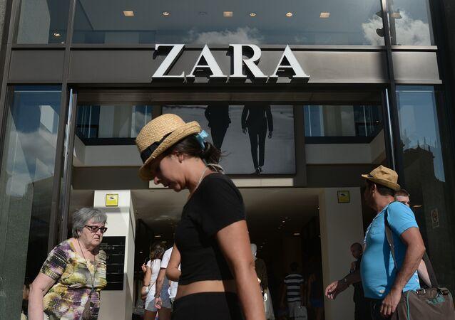 Una tienda de Zara (una marca de ropa de la compañía Inditex) en España