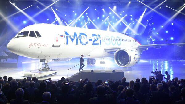 Presentación del nuevo avión de pasajeros MC-21 - Sputnik Mundo