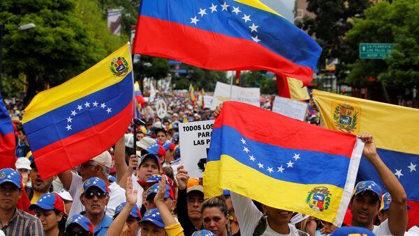 Las protestas en Caracas, Venezuela (archivo) - Sputnik Mundo