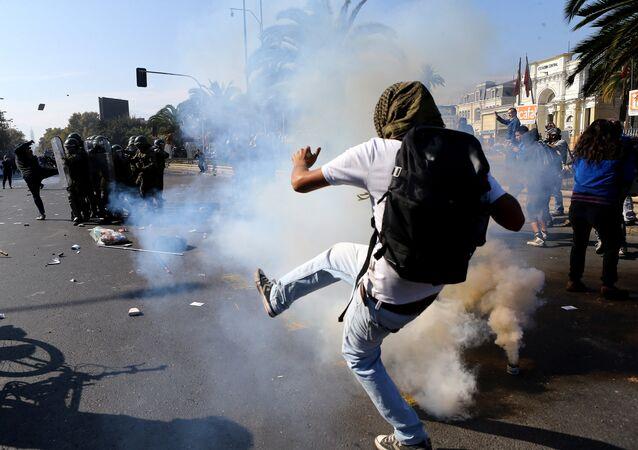 Protestas en Santiago, Chile (archivo)