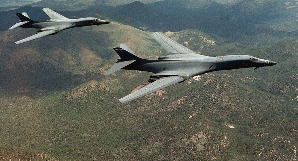Los bombarderos B-1B Lancer (archivo)
