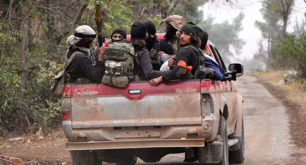 Miembros del grupo terrorista Ahrar al Sham (imagen referencial)