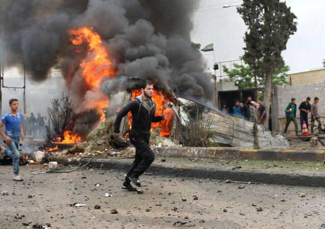 La explosión de un coche bomba en Siria (archivo)