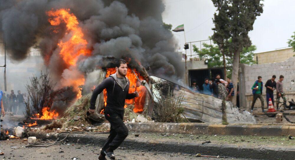 La explosión de un coche bomba en Siria
