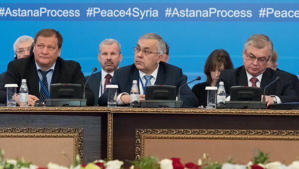 La delegación rusa en Astaná - Sputnik Mundo