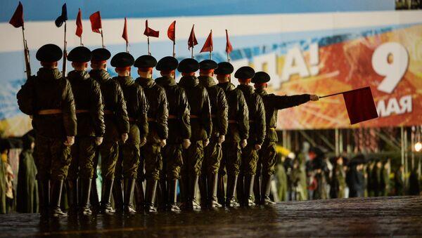 Ensayo del desfile de la Victoria en la Plaza Roja - Sputnik Mundo